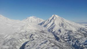 Вид на вулкан Корякская сопка