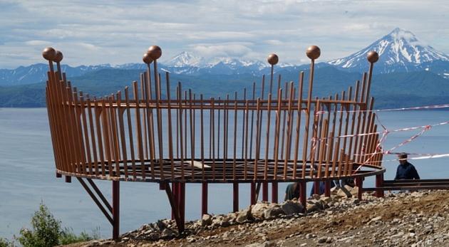 Мишенная сопка на Камчатке украсится смотровой площадкой в виде короны