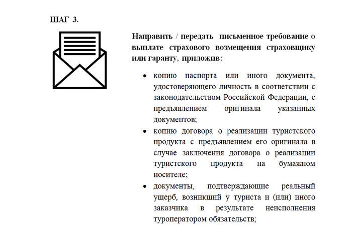 Направить письменное требование