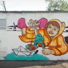 «Город в красках» в действии: на улицах Петропавловска появляются новые арт-объекты