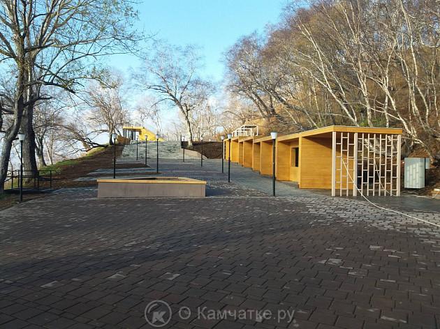 Завершается благоустройство территории парка сопки Никольская