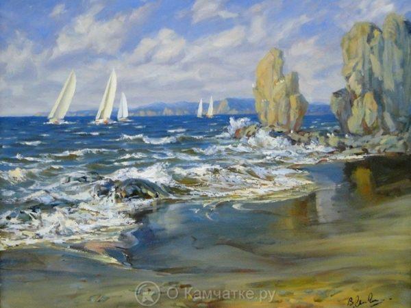 Выставка живописи и графики «Морем вдохновленные» представляет произведения из фондового собрания Камчатского художественного музея