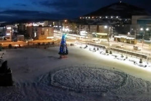 Открытие новогодней ёлочки в Петропавловске-Камчатском