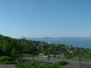 Вид на Авачинскую бухту и вилкан Вилючинский