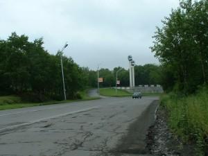 Стелла на въезде в Петропавловск-Камчатский